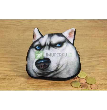 3D Dog coin bag model 2