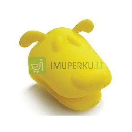 Silicone mitt dog head - YELLOW
