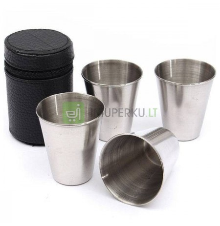 Stainless steel shot glass - 4 pcs set