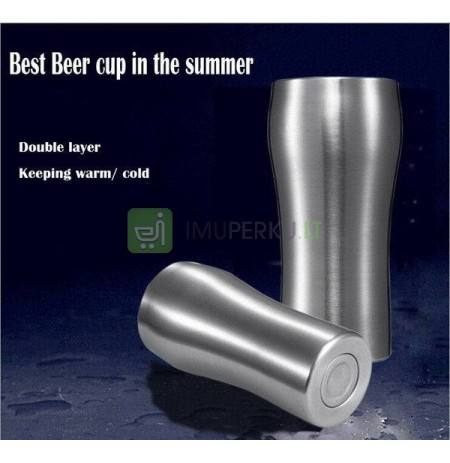 Beer mug IRON CHILLER (double wall) - slim