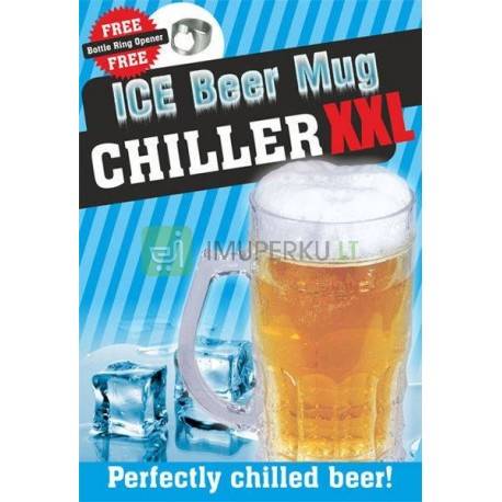 Ice beer mug CHILLER XXL 650 ml - golden