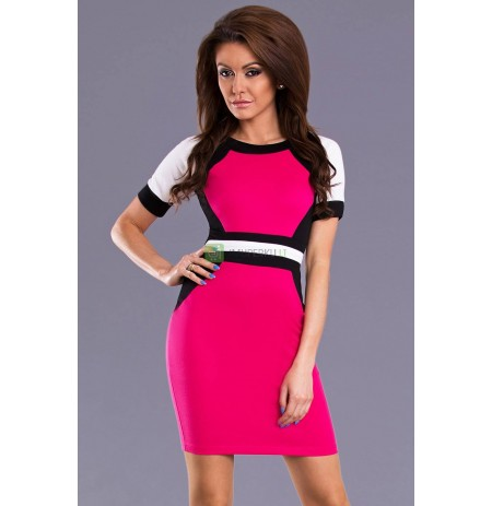 EMAMODA DRESS - Fuchsia 8603-1