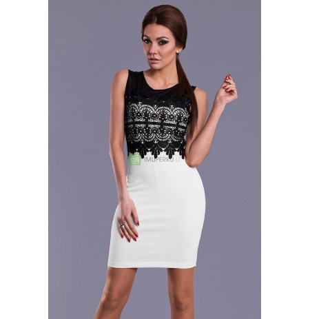 EMAMODA DRESS - WHITE 8406-2