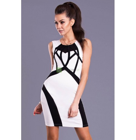 EMAMODA DRESS -WHITE 8104-1
