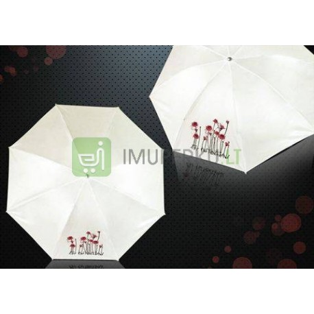 Rose umbrella - red