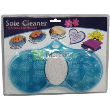Foot care set (sole cleaner and massager)