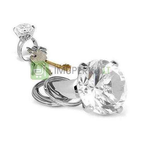 Diamond key ring - transparent