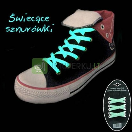 Glow in the dark shoelance - green