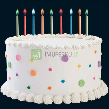 Party candles with color flame
