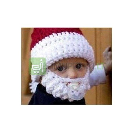 Beard hat for kids Santa Claus