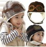 Pilot (aviator) hat for kids - black