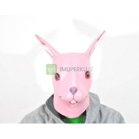 Rabbit mask - pink