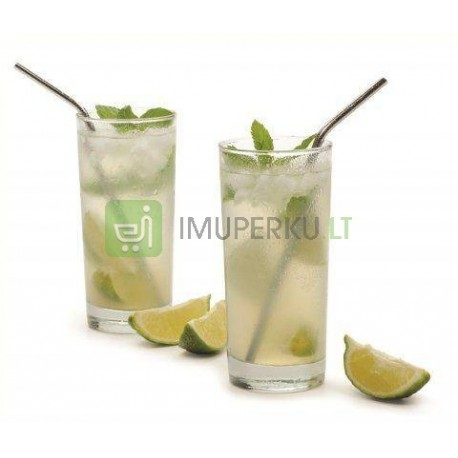 Stainless steel drinking straws (4 pcs/set + brush)