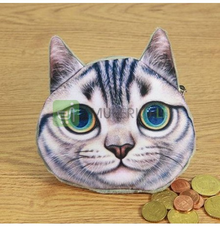 3D Cat coin bag model 2