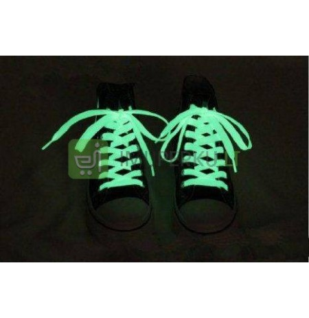 Glow in the dark shoelance - white