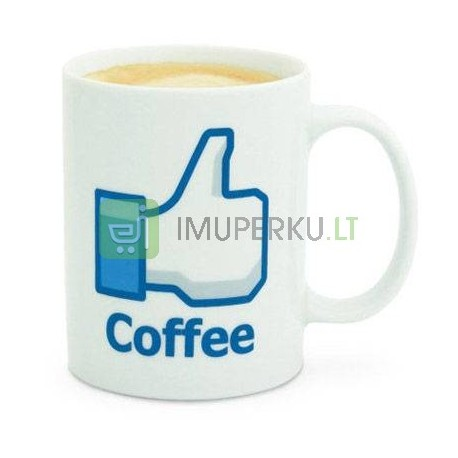 "Facebook puodelis - ""Like Coffee"""