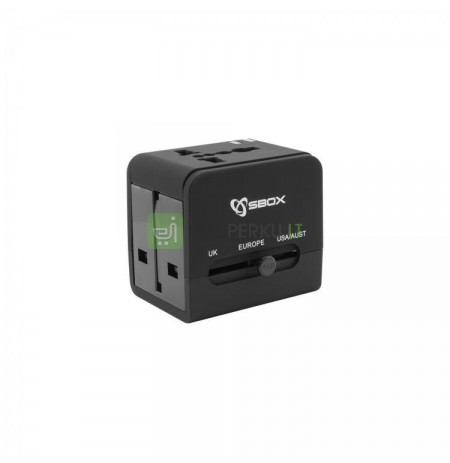 Sbox TA-23 Universal Travel Adapter with Dual USB Charger