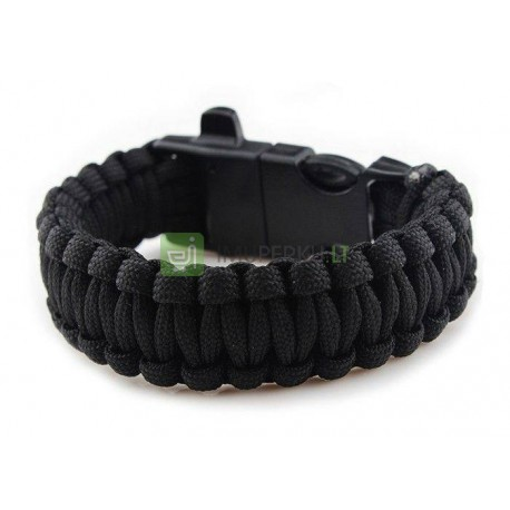 Survival bracelet 3in1 BLACK