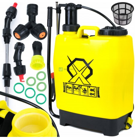 BACKPACK PRESSURE SPRAYER HAND + NOZZLES