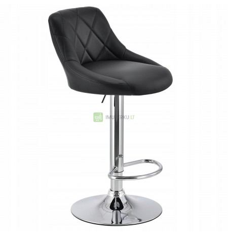 HOKER quilted barstool ADJUSTABLE BLACK