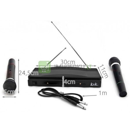 Karaoke Set Wireless Station + 2 Microphones