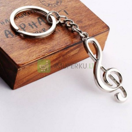 Music key ring - musical note