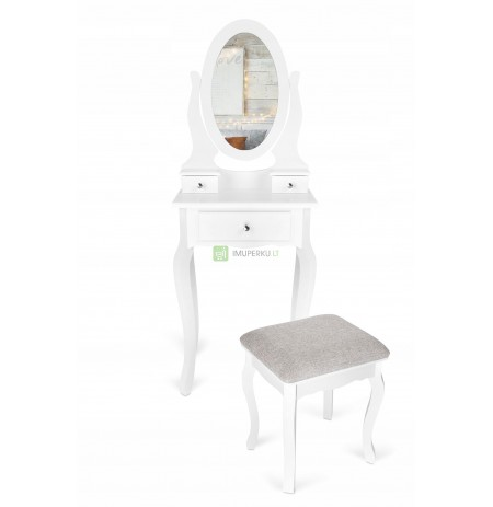 COSMETIC TOILET WITH MIRROR + ITALFORM STOOL
