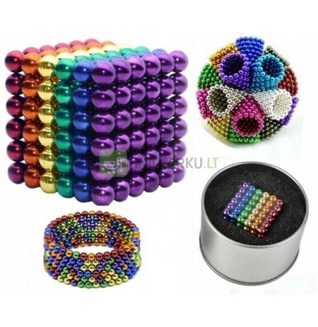 3mm MAGNETIC BALLS NEOCUBE 216 pcs RAINBOW