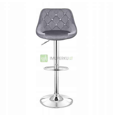 HOKER barstool WELUR ADJUSTABLE GRAY