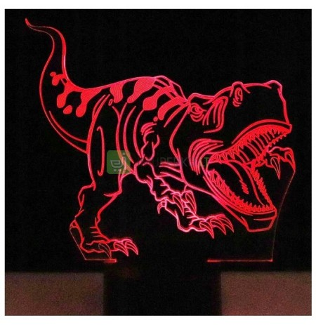 3D LED NIGHT LIGHT DINOSAUR T-REX 2 REMOTE CONTROL GIFT