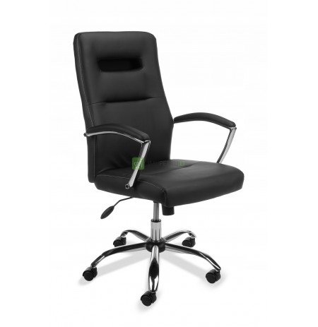 ! OFFICE SWIVEL CHAIR SL-3 ECO LEATHER NEW!