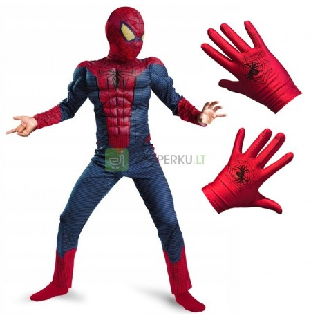 SPIDERMAN SUIT LARGE MUSCLES SOFT GLOVES 116/122