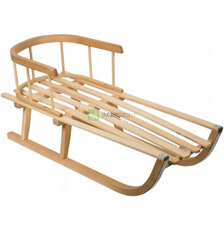 WOODEN BEECH SLEDS WITH BACK SUPPORT POLISH PRODUCT