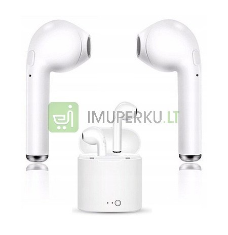 WIRELESS BT i7S HEADPHONES with Powerbank k04