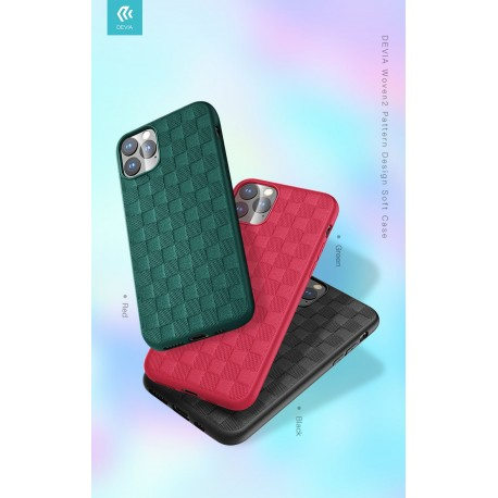 Devia Woven2 Pattern Design Soft Case iPhone 11 red