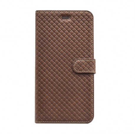 Tellur Book case Genuine Leather Cross for iPhone 7 Plus brown