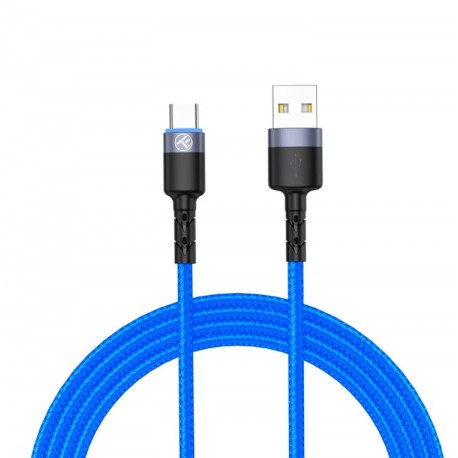 Tellur Data cable USB to Type-C with LED Light, 3A, 1.2m blue