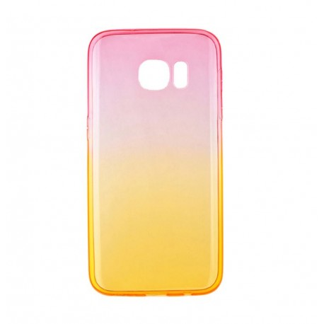 Tellur Cover Silicone for Samsung Galaxy S7 pink/orange