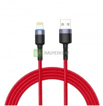 Tellur Data cable USB to Lightning with LED Light, 3A, 1.2m red