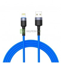 Tellur Data cable USB to Lightning with LED Light, 3A, 1.2m blue