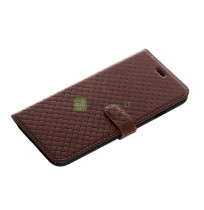 Tellur Book case Genuine Leather Cross for iPhone 7 brown