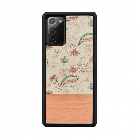 MAN&WOOD case for Galaxy Note 20 pink flower black