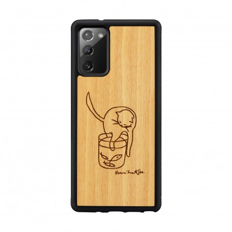 MAN&WOOD case for Galaxy Note 20 cat with fish