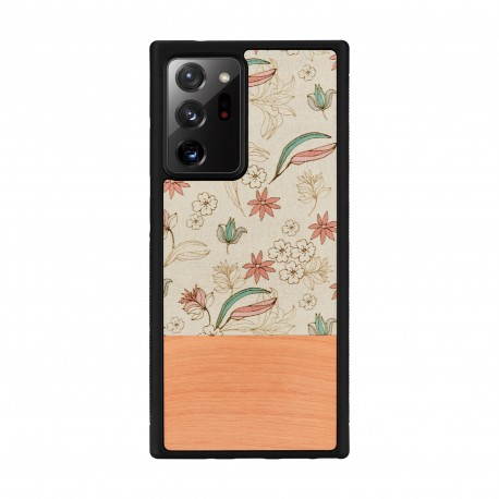 MAN&WOOD case for Galaxy Note 20 Ultra pink flower black