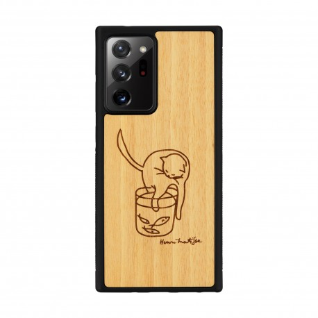 MAN&WOOD case for Galaxy Note 20 Ultra cat with fish