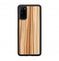 MAN&WOOD case for Galaxy S20 cappuccino black
