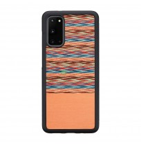 MAN&WOOD case for Galaxy S20 browny check black