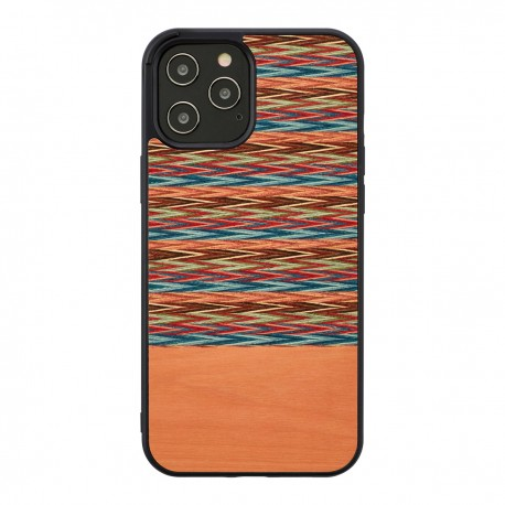 MAN&WOOD case for iPhone 12/12 Pro browny check black