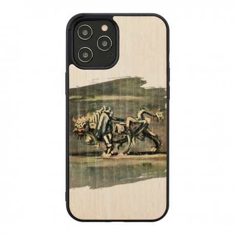 MAN&WOOD case for iPhone 12/12 Pro white bull