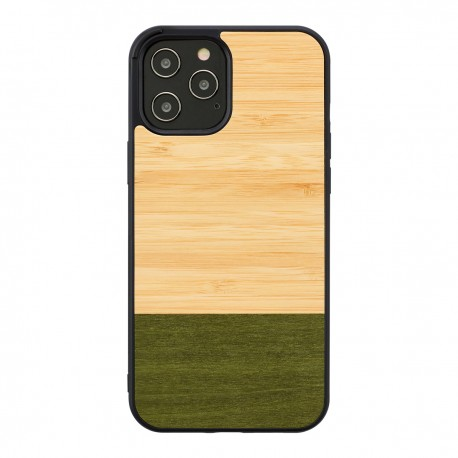 MAN&WOOD case for iPhone 12 Pro Max bamboo forest black